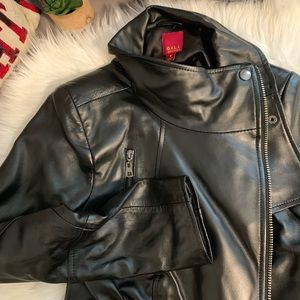 Genuine Italian Leather Cropped Jacket